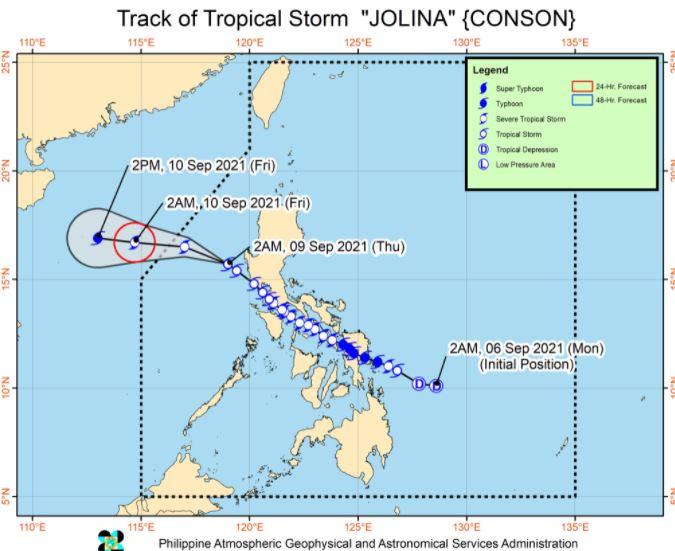 'Bagyong Jolina' PAGASA track