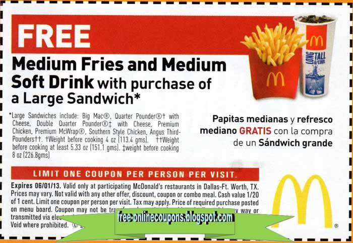 Mcdonalds coupons com