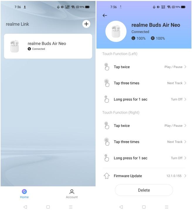 realme Buds Air Neo - realme Link