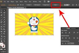 Cara Crop dan Masking Gambar di Illustrator