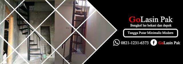 harga tangga putar minimalis modern