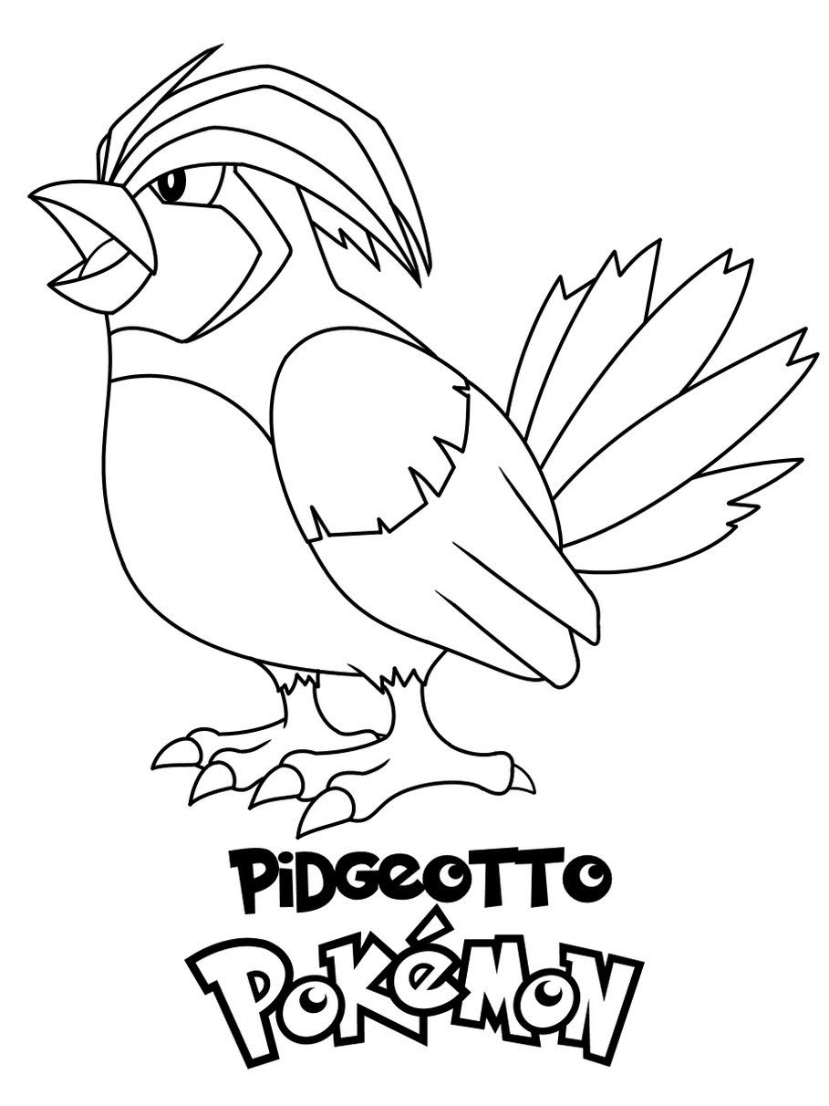 Pokemon Pidgeotto Coloring Pages Free Downloads Free Pokemon Coloring Pages