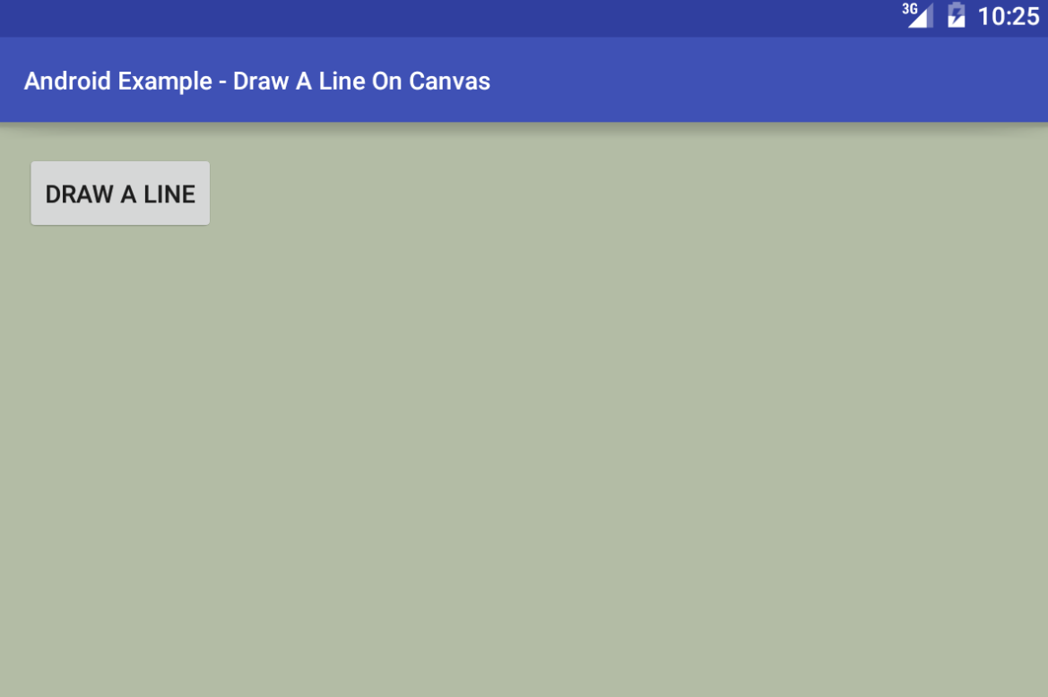 android - How to draw a Line on Canvas