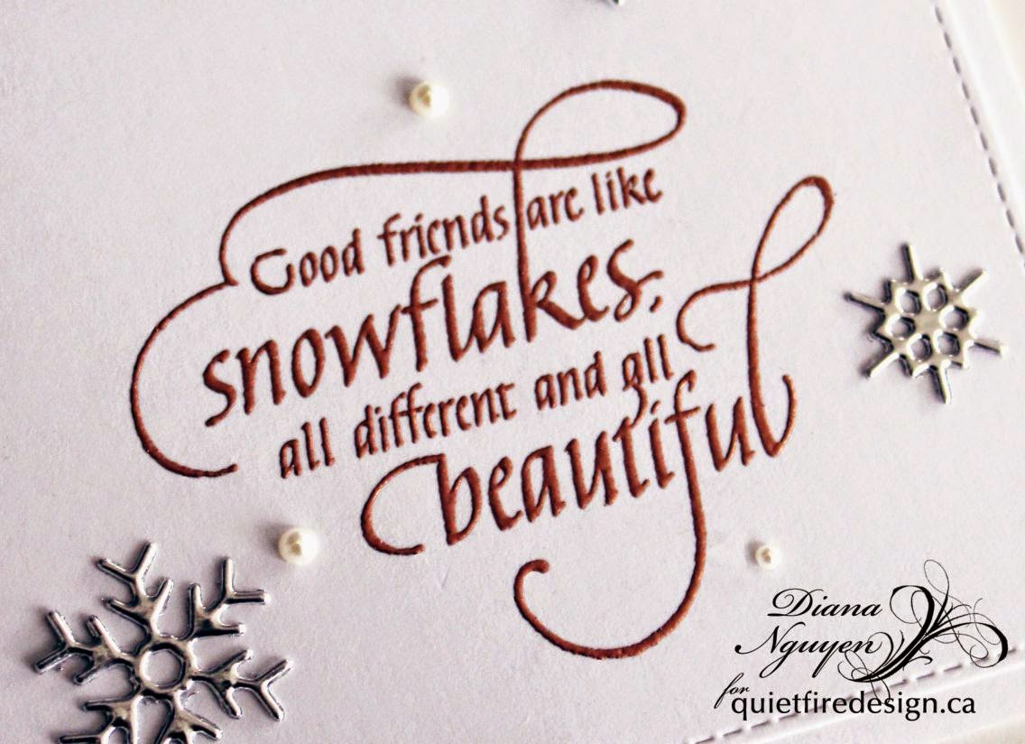 Diana Nguyen, snowflake, Quietfire Design, Impression Obsession, CAS