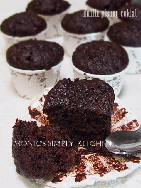 muffin pisang dobel coklat