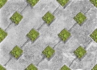 Tile background paving Block Taman dengan rumput