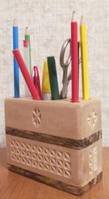 карандашница деревянная своими руками