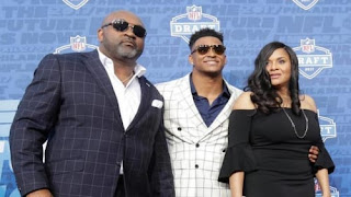 Jamal Adams With Son And Wife