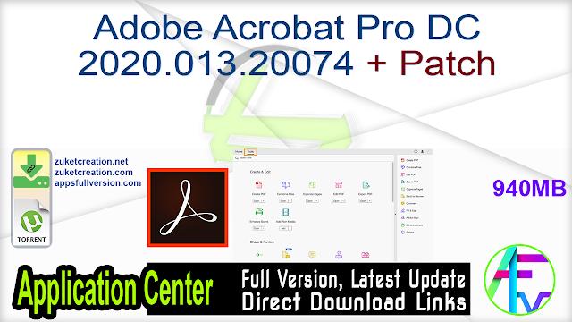 Adobe Acrobat Pro DC 2020.013.20074 + Patch