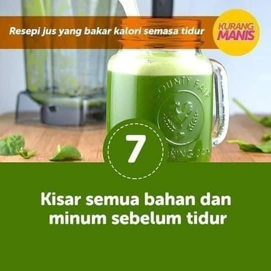 resepi minuman jus yang bakar kalori semasa tidur