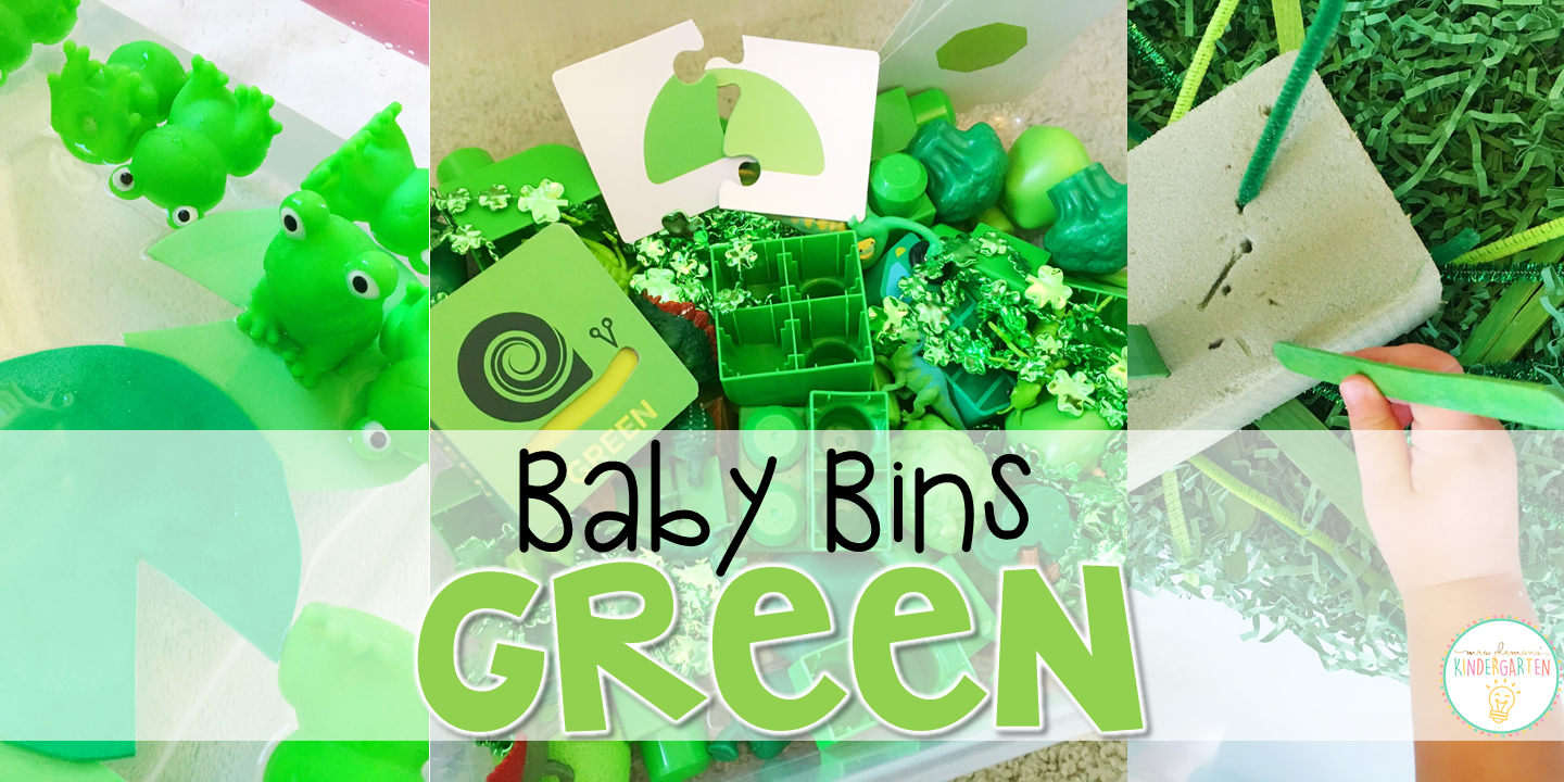 Baby Bins: Green Theme - Mrs. Plemons\' Kindergarten