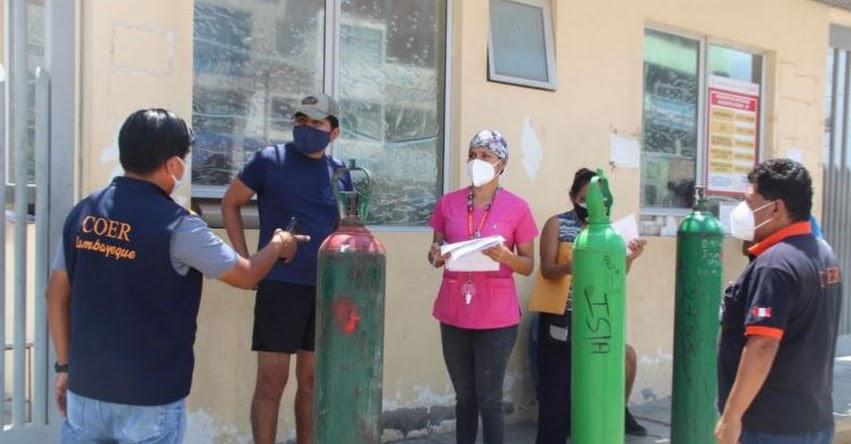 OXÍGENO EN LAMBAYEQUE: Reinician la entrega gratuita para pacientes covid-19