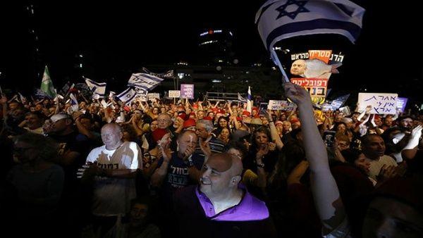 Protestan en Israel contra el primer ministro Bejamin Netanyahu