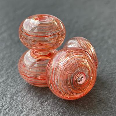Handmade hollow lampwork glass beads made with CiM Prometheus