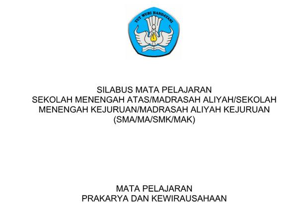 Silabus Prakarya dan Kewirausahaan Kurikulum 2013 Revisi 2017 PDF