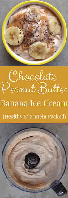 Chocolate Peanut Butter Banana Ice Cream