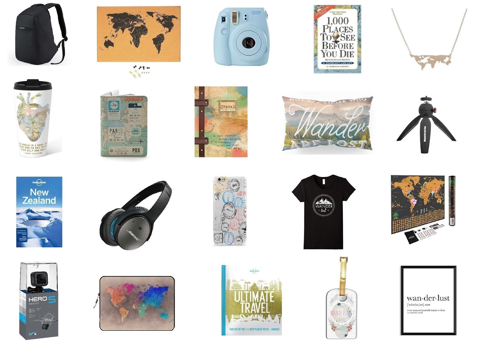 20 Gift Ideas for the Travel-Obsessed
