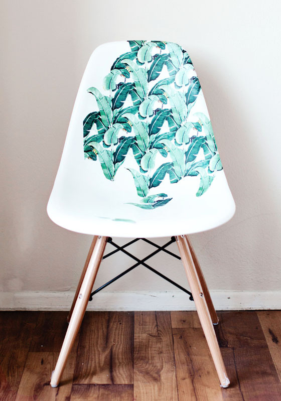 diy une chaise relook e en mode jungle initiales gg. Black Bedroom Furniture Sets. Home Design Ideas