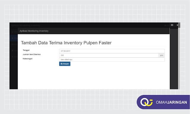 Fitur Tambah Data Terima Inventory Barang Review Aplikasi Inventory Barang Berbasis Web Php, MySQL dan Codeigniter
