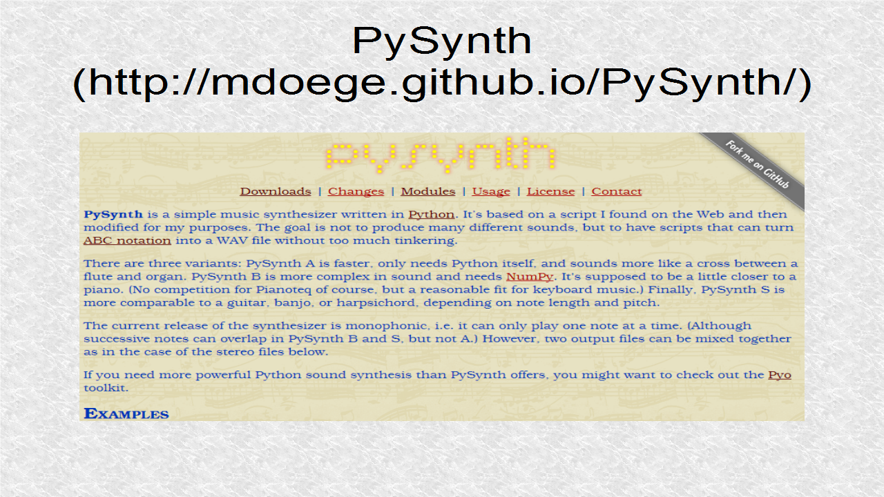 Audio Programming In Python: 2  Creating Audio with PySynth