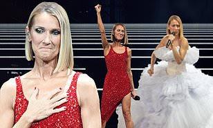 Celine Dion, 51, holds back tears as she gives heart felt performans hours after her mother Thérèse passes on at aged 92