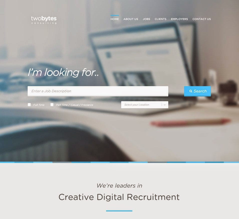 TwoBytes - Free PSD Website Template