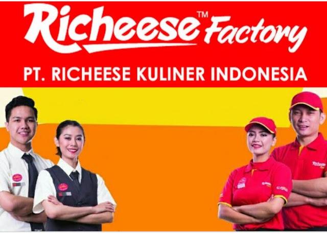 Lowongan kerja PT Richeese Kuliner Indonesia Jobs,  Outlet Crew,  Management  Trainee Batch 7, Marcomm Staff,  Etc