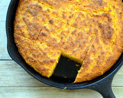 Sweet Potato Cornbread ♥ AVeggieVenture.com, naturally wheat-free & gluten-free without unusual ingredients.