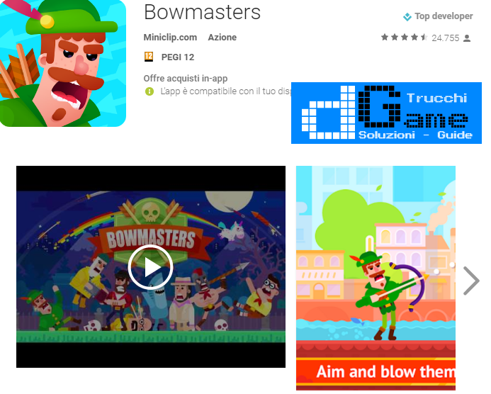 Trucchi Bowmasters Mod Apk Android v1.0.3