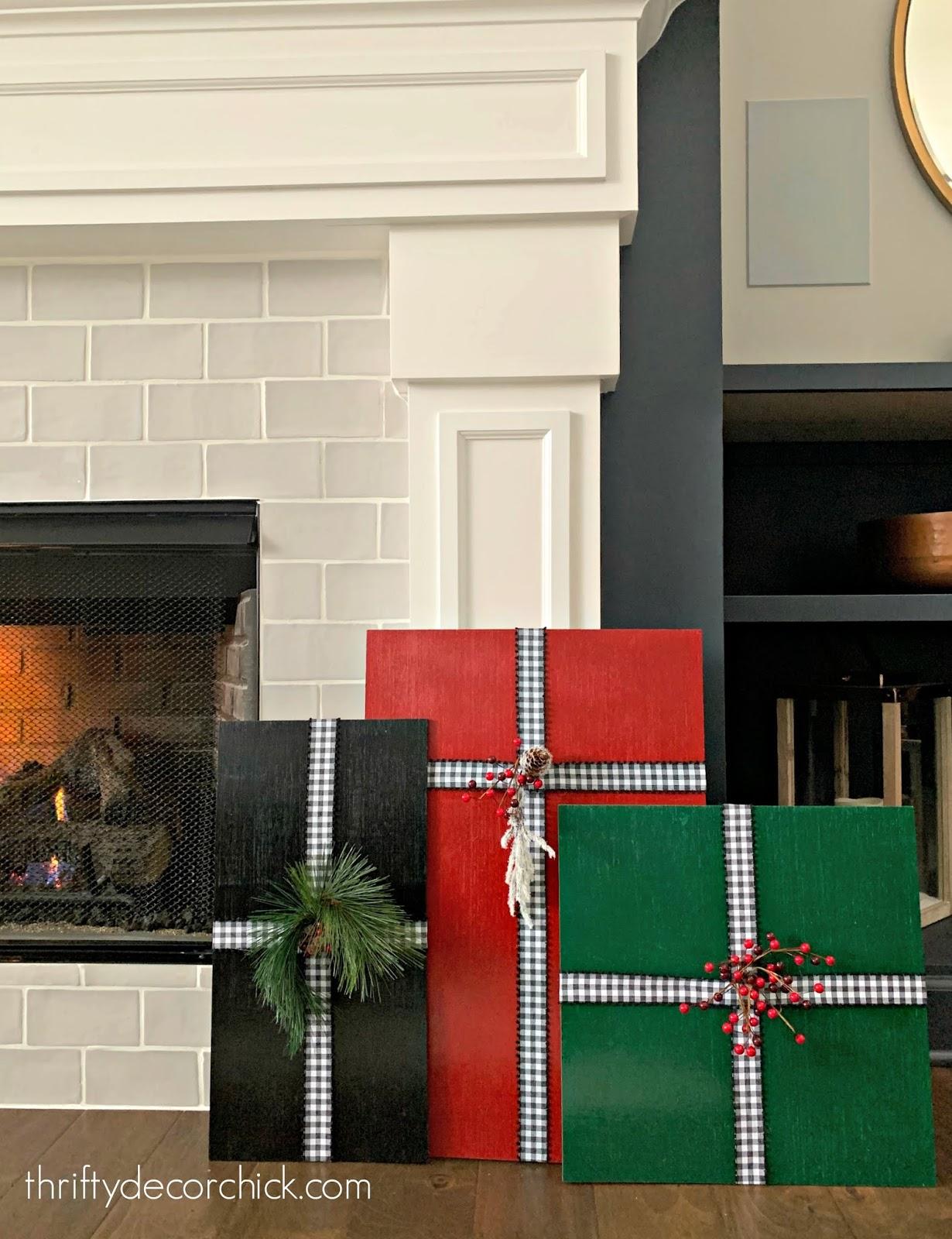 DIY large wood Christmas presents