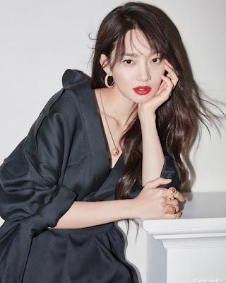 Shin Min Ah mata kulit putih dan mulus