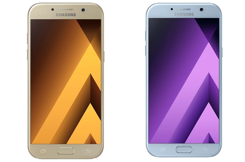 Samsung Galaxy A5 Gold (SRP Php19,990) and Galaxy A7 Blue (SRP Php23,990)