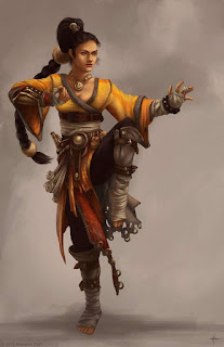 Moula Arbacent, human female far traveled monk