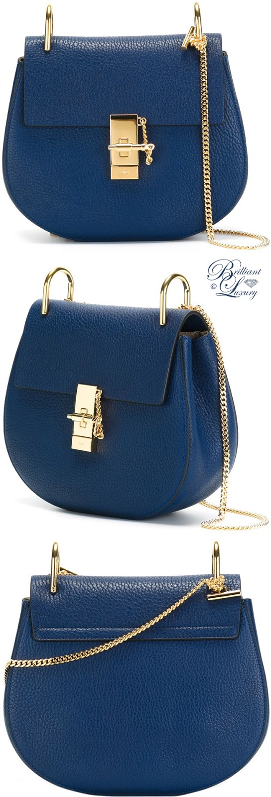 Brilliant Luxury ♦ Chloé Drew Shoulder Bag #blue