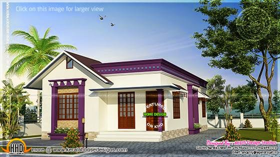 Sloping roof single floor home