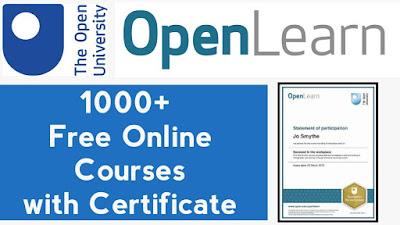1000 دورة مفتوحة بشكل مجاني على الإنترنت 2021 في المملكة المتحدة - شهادات مجانية