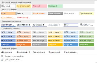 Как удалить лишние стили в Excel