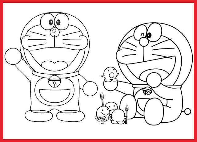 gambar-kartun-doraemon-hitam-putih