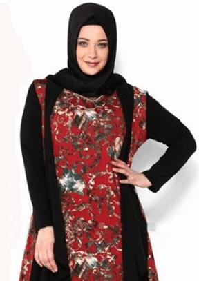 Contoh Model Gamis Batik Kombinasi Terbaru Saat Ini