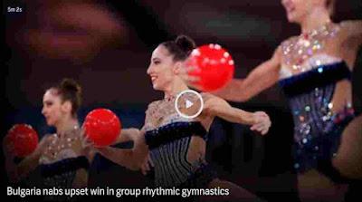 News Today   Bulgaria upsets ROC in group rhythmic gymnastics final