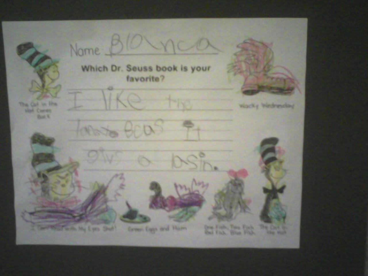Miss Llewellyn S Kindergarten Happy Birthday Dr Seuss