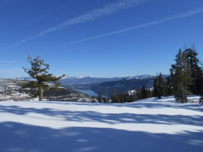 blue sky, winter, snow day, donner summit