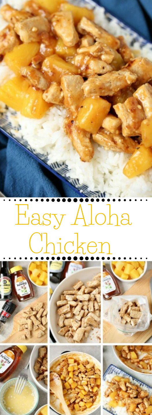 Easy Aloha Pineapple Chicken #dinner #vegetarian #pineapple #easy #healthy