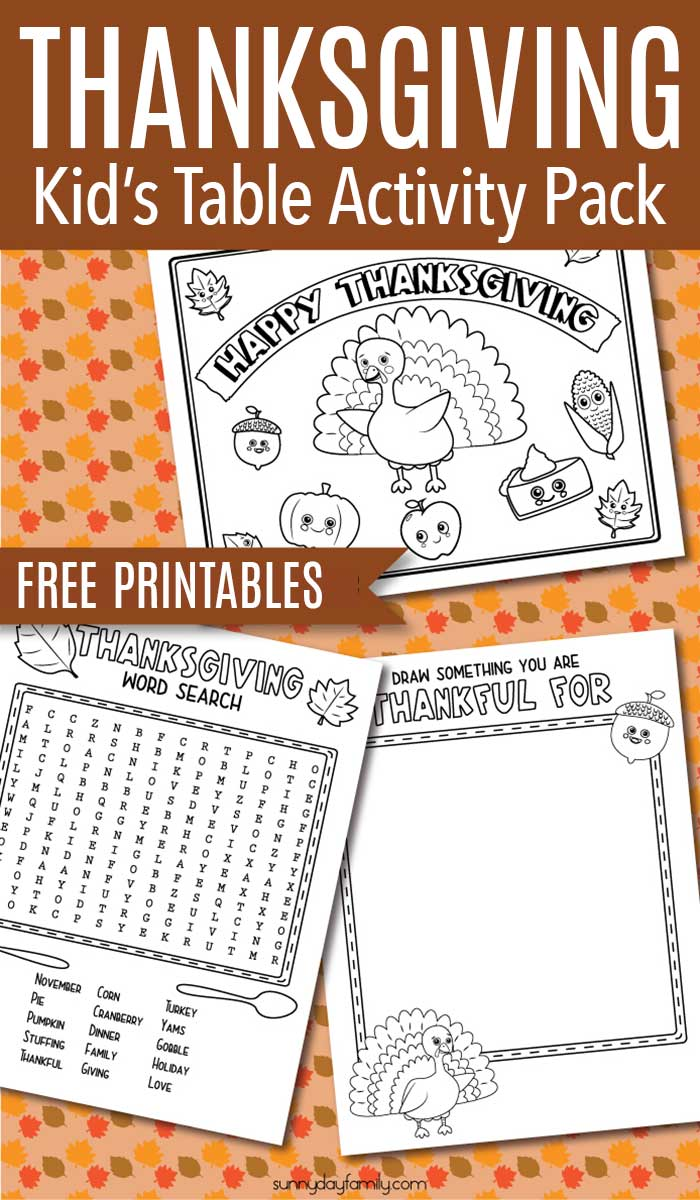 Free Thanksgiving printables for kids! Includes Thanksgiving coloring pages, Thanksgiving activities, and more. #Thanksgivingactivities #kidstable #thanksgivingcoloringpages