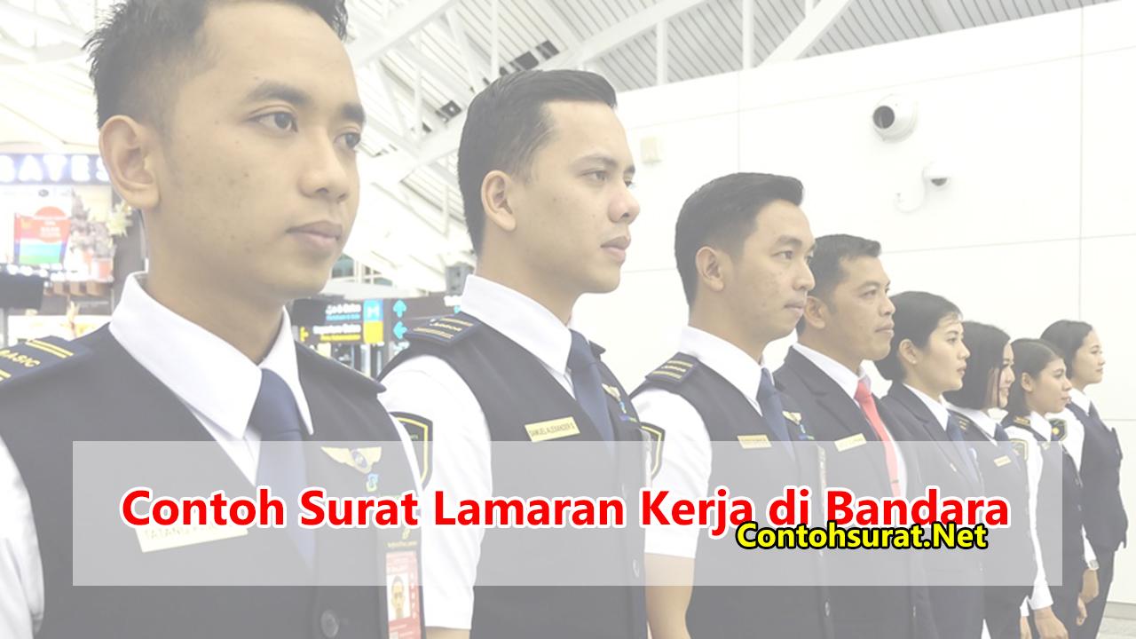 Contoh Surat Lamaran Kerja di Bandara