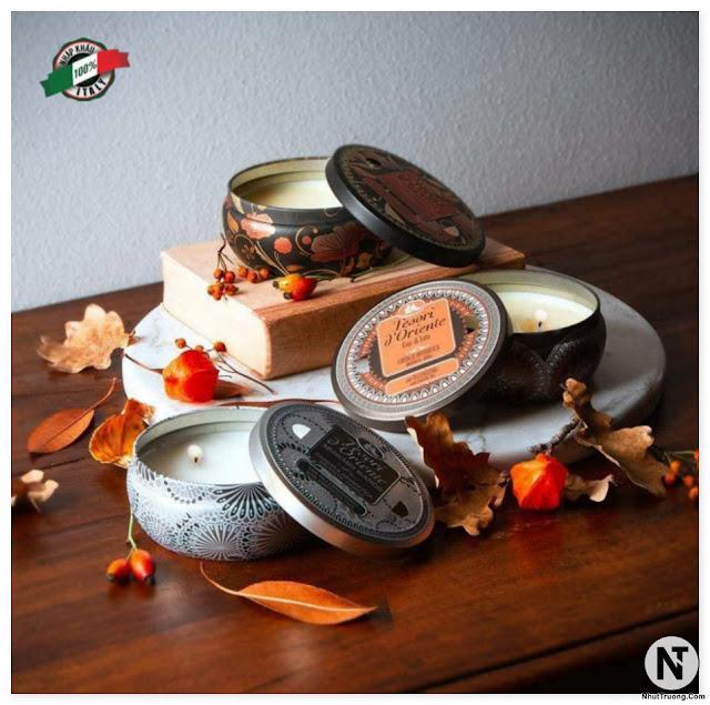 Set nến thơm 3 hũ Tesori d'Oriente ( Sen, Xạ hương, Hoa trà ) 110gram/hũ