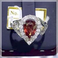 Jual Cincin Berlian Eropa Batu Garnet