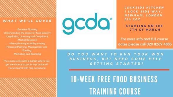 10-Week Free Food Business Training Course by GCDA
