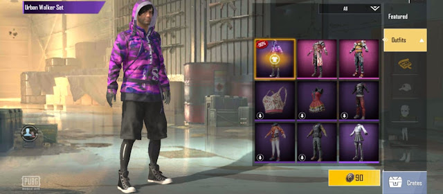 How to get Urban Walker Set outfit in PUBG Mobile Lite 0.21.0 update