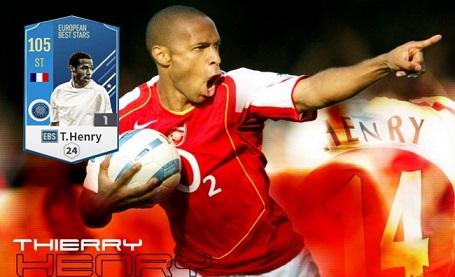 FIFA ONLINE 4   Review Thierry Henry EBS - con trai thần gió sát thủ của Arsenal